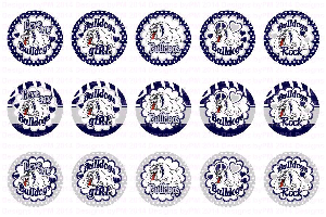 bulldogs navy silver bottle cap images 4x6 bottlecap collage scrapbooking jewelry hairbow center