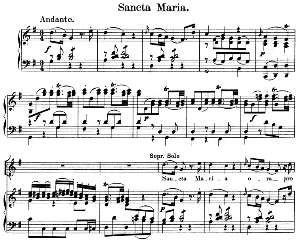 02 Sancta Maria: Solo Quartet SATB, Choir SATB and Piano. Litaniae lauretanae K.195, W.A. Mozart. Vocal Score (Hans Sitt) Ed. Breitkopf (1886). Latin. | eBooks | Sheet Music