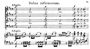 03 Salus infirmorum: Solo Quartet SATB, Choir SATB and Piano. Litaniae lauretanae K.195, W.A. Mozart. Vocal Score (Hans Sitt) Ed. Breitkopf (1886). Latin. | eBooks | Sheet Music