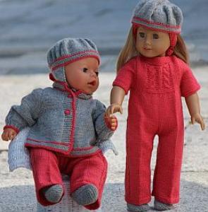 DollKnittingPatterns - 0118D VANJA -Anzug, Jacke, Haarband, Socken und Mütze für American Doll, Mütze für Baby Born (Deutsch) | Crafting | Knitting | Baby and Child