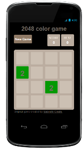 2048 color game for android phone