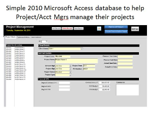 project management 2010 ms access database