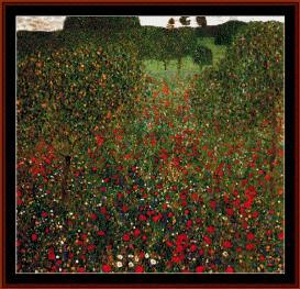 Poppy Field - Klimt cross stitch pattern by Cross Stitch Collectibles | Crafting | Cross-Stitch | Wall Hangings