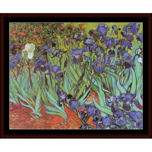 Die Irises Postersize - Van Gogh cross stitch pattern by Cross Stitch Collectibles | Crafting | Cross-Stitch | Other