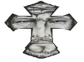 Brick Stitch Jesus Cross Delica Seed Beading Pendant Pattern | Other Files | Arts and Crafts