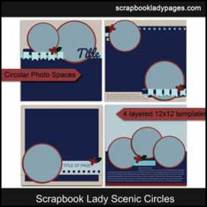 scrapbook lady scenic circles