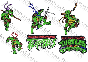 ninja turtles - embroidery designs collection