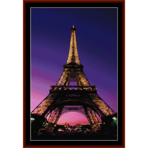 eiffel tower - landmark cross stitch pattern by cross stitch collectibles