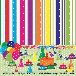 colorful party bundle digital