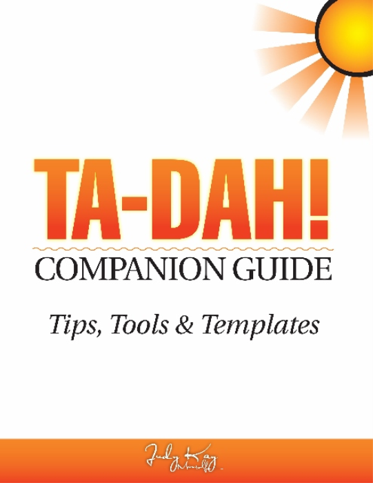 First Additional product image for - TA-DAH! Companion Guide; Tips, Tools & Templates