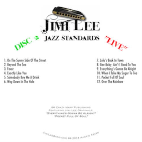 """First Additional product image for - Jimi Lee """"Jazz Standards"""" Two CD Disc Set"""