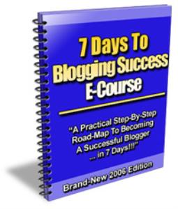 7 days to blogging success ecourse