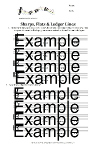 Sharps, Flats and Ledger Lines Worksheet | Music | Children