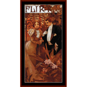 Flirt - Mucha cross stitch pattern by Cross Stitch Collectibles | Crafting | Cross-Stitch | Other