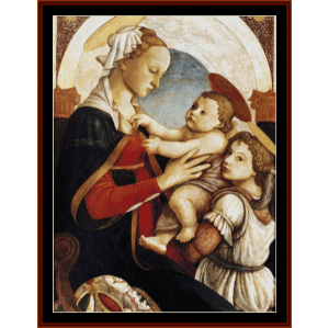 madonna and child with angel - botticelli cross stitch pattern by cross stitch collectibles