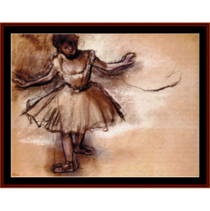 Dancer - Degas cross stitch | Crafting | Cross-Stitch | Wall Hangings