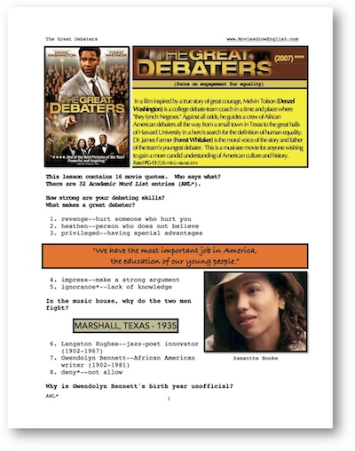 essay great debaters movie