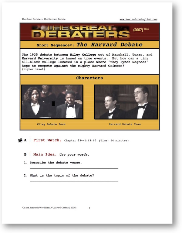 the great debaters worksheets - The Best and Most Comprehensive ...