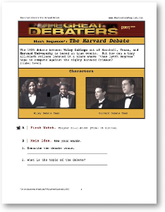 The Great Debaters, THE HARVARD DEBATE, Short-Sequence English (ESL) Lesson | eBooks | Education