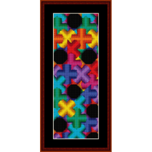 fractal 455 bookmark cross stitch pattern by cross stitch collectibles