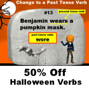 50% Off Halloween Verbs | Documents and Forms | Templates
