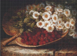 Daisies and raspberries | Crafting | Cross-Stitch | Other