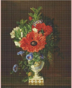 Bouquet with poppies | Crafting | Cross-Stitch | Other