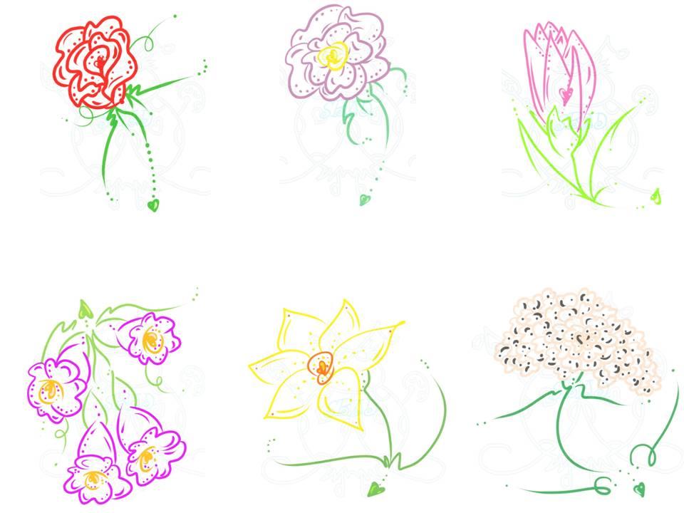 Flower Outline Designs Png Flowers Outlines Mini Design