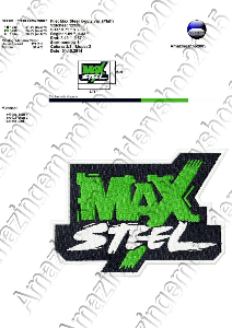 max steel - embroidery design