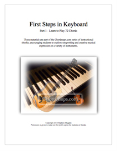 first steps in keyboard - part 1 - 72 chords