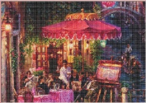 Cafe along the canal | Crafting | Cross-Stitch | Other