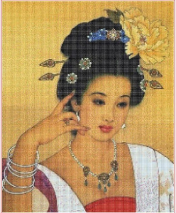 Oriental lady | Crafting | Cross-Stitch | Other