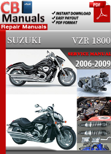 Suzuki VZR 1800 2006-2009 Service Manual | eBooks | Automotive