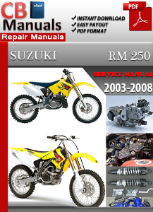 Suzuki RM 250 2003-2008 Service Repair Manual | eBooks | Automotive