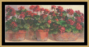 Geraniums | Crafting | Cross-Stitch | Other
