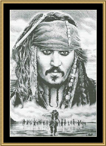 Captain Jack | Crafting | Cross-Stitch | Wall Hangings