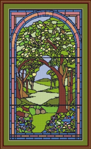 Tree in Stained Glass | Crafting | Cross-Stitch | Wall Hangings