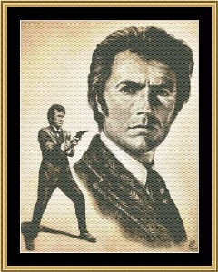 Clint Eastwood - Harry Calahan | Crafting | Cross-Stitch | Other