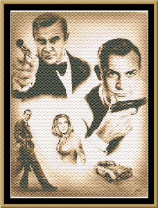 Golden Age Of Bond | Crafting | Cross-Stitch | Wall Hangings