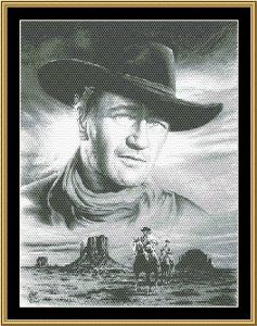 John Wayne - Searching | Crafting | Cross-Stitch | Wall Hangings