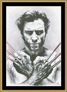 Wolverine | Crafting | Cross-Stitch | Wall Hangings