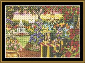 Twilight Romance Garden | Crafting | Cross-Stitch | Wall Hangings