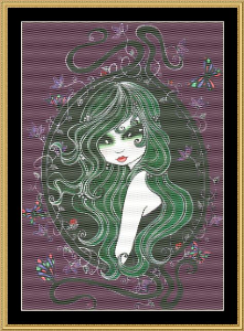 The Green Fairy | Crafting | Cross-Stitch | Floral