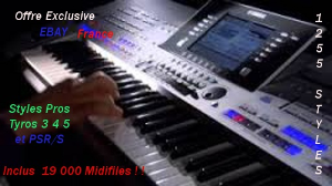 1255 Styles&19000 Midifiles Tyros & PSR/S Clavinova | Music | International