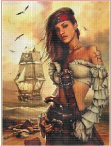 Lady pirate | Crafting | Cross-Stitch | Other
