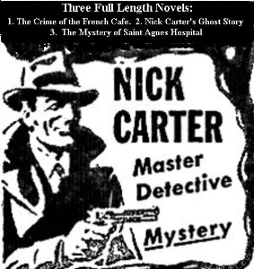 three full length novels by nick carter, master detective