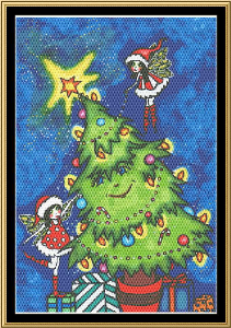 Trimming The Tree | Crafting | Cross-Stitch | Holiday and Seasonal