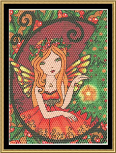 Yule Fairy | Crafting | Cross-Stitch | Christmas