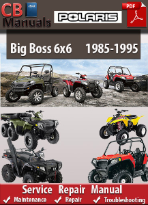 polaris big boss 6x6 1985-1995 service repair manual