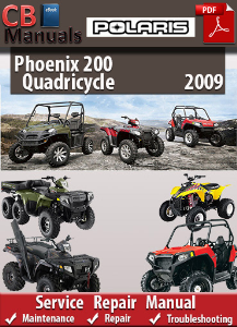 Polaris Phoenix 200 Quadricycle 2009 Service Repair Manual | eBooks | Automotive